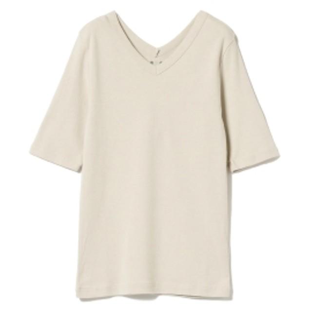 EFFE BEAMS three dots / ダブルVネック Tシャツ レディース Tシャツ CANVAS S