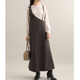 【ビス/ViS】 【WEB限定】ワンショルダージャンパースカート