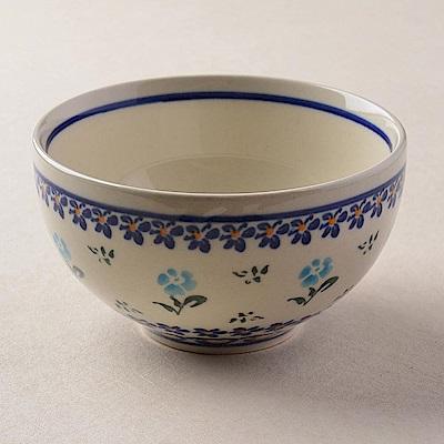 波蘭陶 青藍小花系列 餐碗 11.5cm 波蘭手工製