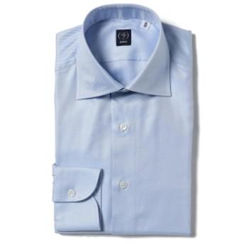 BEAMS F BEAMS F / ツイル ワイドカラーシャツ メンズ ドレスシャツ LT. BLUE/11 43