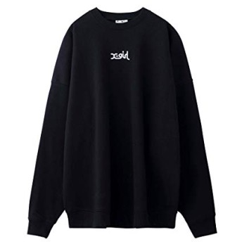 X-girl(エックスガール)EMBROIDERED MILLS LOGO CREW SWEAT TOP ブラック 2