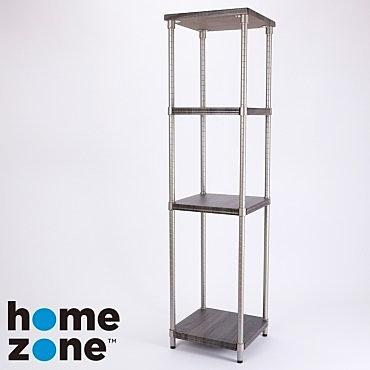 Home Zone 四層木紋層架 方型 39x36x153cm