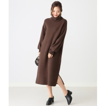 B:MING by BEAMS 【mina12月号掲載】B:MING by BEAMS / FOX混 タートルネックワンピース 19AW レディース ワンピース BROWN ONE SIZE