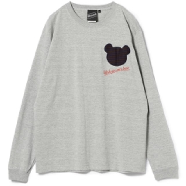 BEAMS T 【SPECIAL PRICE】BEAMS T / Wish You Bear Long Sleeve Tee メンズ Tシャツ H.GREY XL
