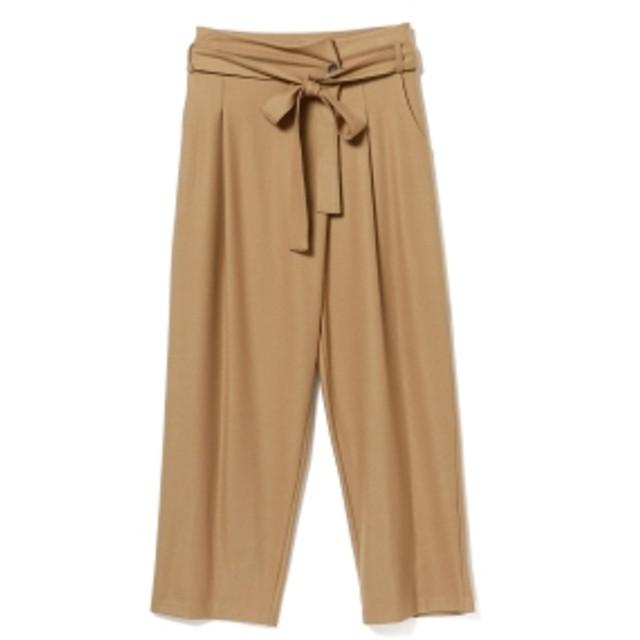 B:MING by BEAMS OUTERSUNSET / High waist waide pants レディース カジュアルパンツ BEIGE S