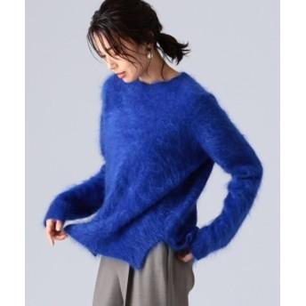 EFFE BEAMS 【滝沢眞規子 着用】【Oggi11月号掲載】EFFE BEAMS / カシミヤファー クルーネックニット レディース ニット・セーター ROYAL BLUE ONE SIZE
