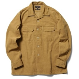 BEAMS PLUS BEAMS PLUS / ドビーコーデュロイ オープンカラーシャツ メンズ カジュアルシャツ BEIGE CHK XL