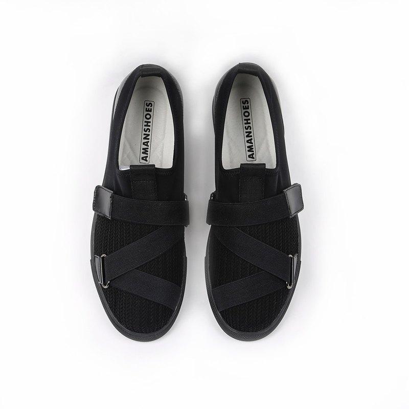 針織透氣彈性輕量休閒鞋20014010