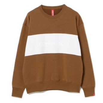 BEAMS JAPAN LOOPWHEELER × BEAMS JAPAN / 別注 ルーズフィット スウェットシャツ メンズ スウェット CAMEL S