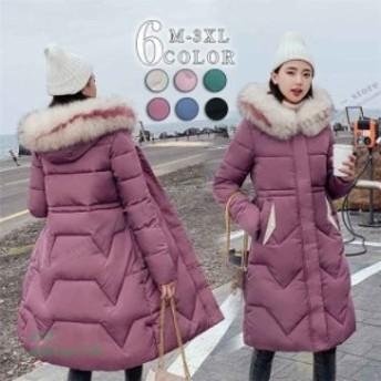 修身 ロング丈 ファッション フード付き ダウンコート 冬新作 172548ダウンジャケット ポイント消化 レディース 大きいサイズ