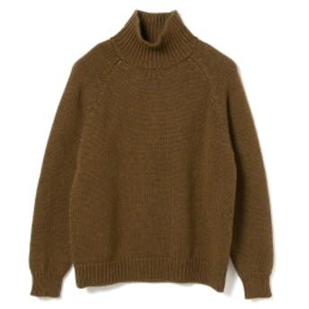 BEAMS PLUS BATONER / RAGLAN TURTLENECK メンズ ニット・セーター BROWN 1