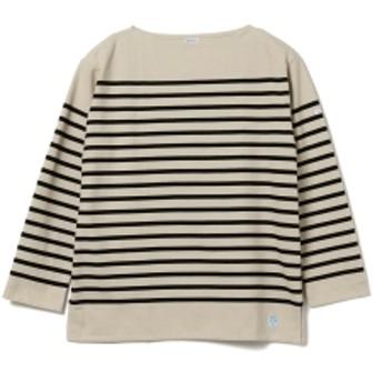 fennica <MEN・UNISEX>ORCIVAL / ビッグサイズ ラッセル フレンチセーラー カットソー メンズ Tシャツ PUMICE/BLACK(ベージュ×ブラック) 6