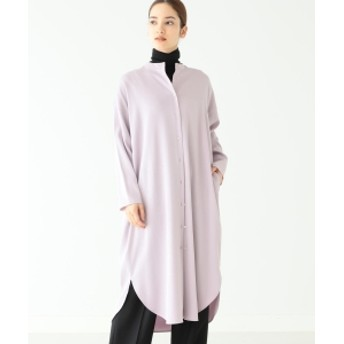 Demi-Luxe BEAMS Demi-Luxe BEAMS / バンドカラー シャツワンピース レディース ワンピース LAVENDER ONE SIZE