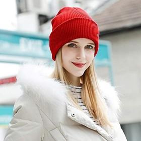 女性ニットカシミアビーニー帽子女の子カジュアル春ウールニットレジャー帽子レディース無地ビーニーキャップ調整可能な B-9424