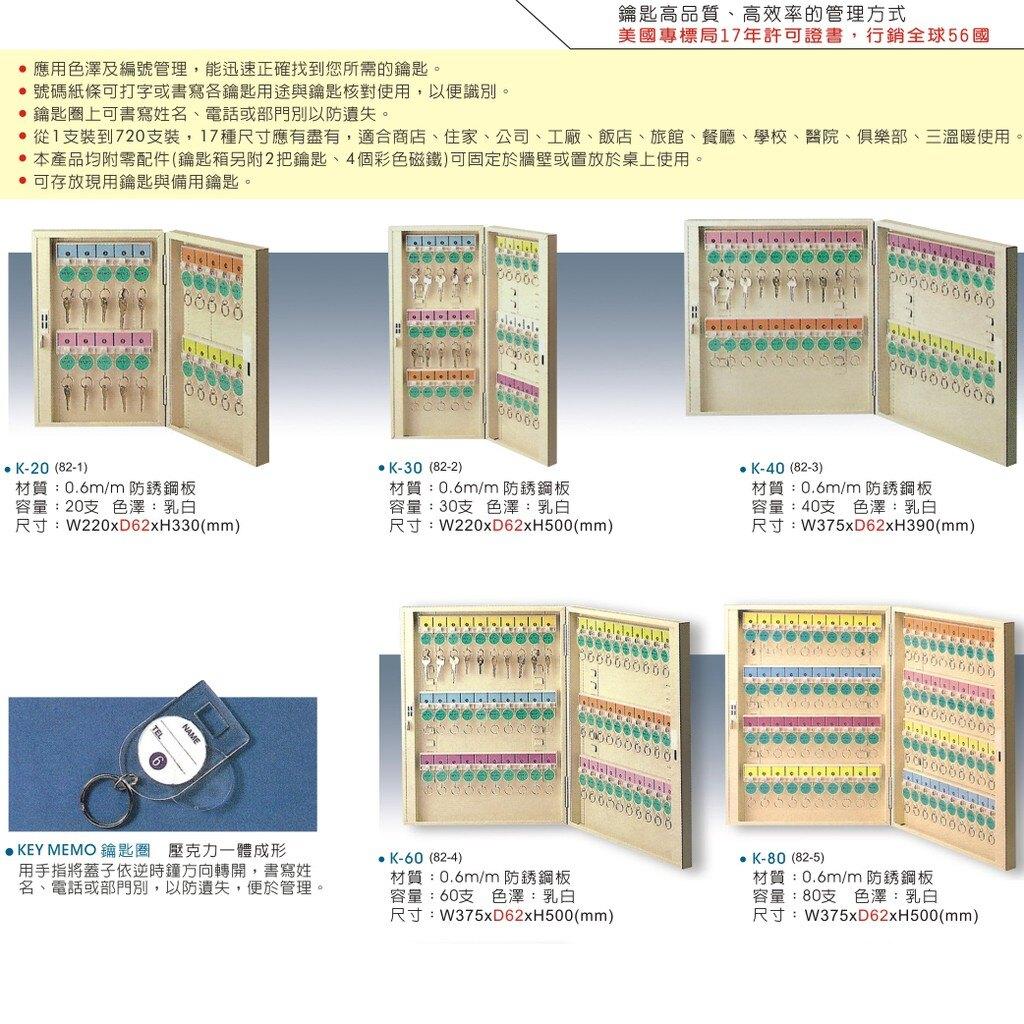 【大富】TATA K-60 鑰匙管理箱 (管理箱/收納箱/置物箱/鑰匙/飯店/學校/台灣品牌)