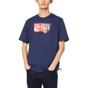 (ディーゼル) DIESEL メンズ Tシャツ DIESEL × COCA-COLA コラボデザイン 00SHNT0GYGC M ネイビー 81E