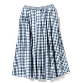 fennica <WOMEN>傳tutaee / KEMAN-CH チェック柄 スカート レディース マキシ・ロング丈スカート BLUE おんな