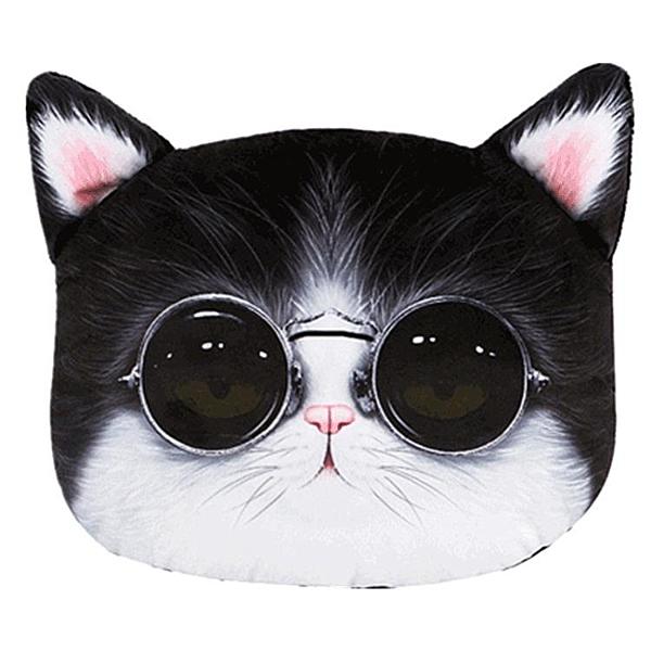 3D貓汽車哈士奇頭枕車用靠枕座椅
