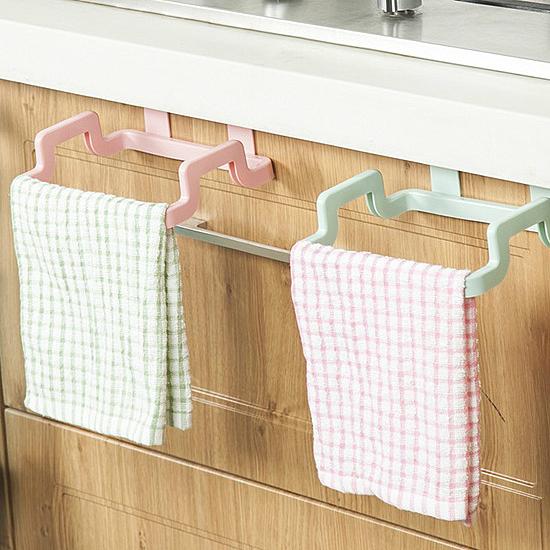 門背式多功能掛架 廚房 抹布 毛巾 雜物 浴室 可調節 可旋轉 簡易安裝【R045】MY COLOR