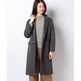 (MARcourt/マーコート)【MIDIUMISOLID for ladies】asymmetry pocket Chester coat/レディース GRAY