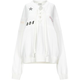 《セール開催中》SAINT LAURENT レディース スウェットシャツ ホワイト M コットン 100%