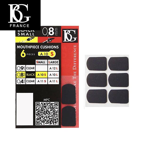 【小叮噹的店】原廠 法國BG A10S 牙墊 護片(小) 黑 0.8mm (6片裝  薩克斯風/ 豎笛) D35