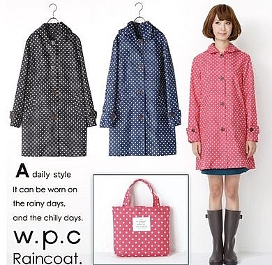 日本時尚女士輕薄透氣雨衣- ck003(M)