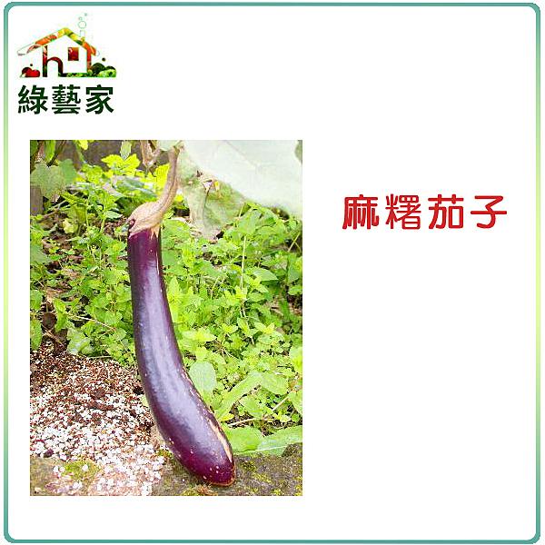 【綠藝家】G18.麻糬茄子(長型紫紅色 果皮)種子30顆