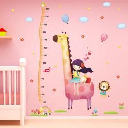 【半島良品】DIY無痕創意牆貼/壁貼-女孩長頸鹿 XL8246大