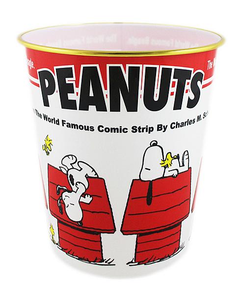 【卡漫城】 Snoopy 垃圾桶 紅屋白底 23cm ㊣版 日版 辦公室 垃圾筒 塑膠桶 史努比 史奴比 糊塗塔克