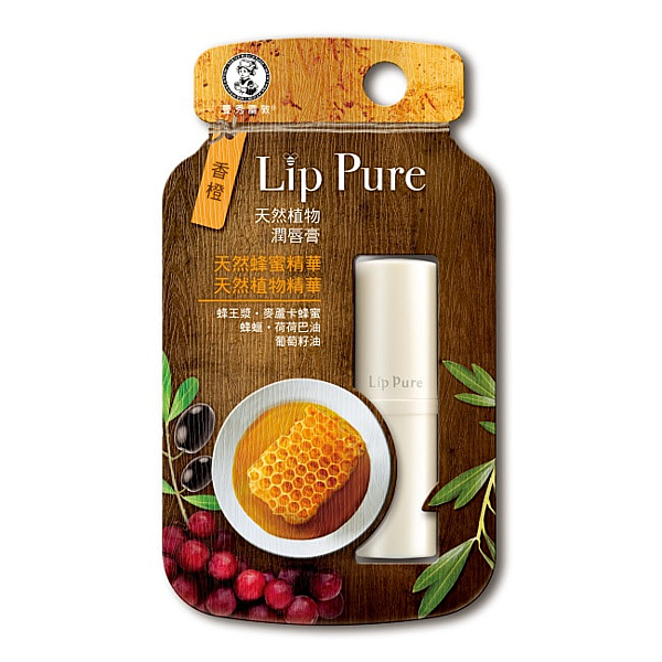曼秀雷敦 LIP PURE天然植物潤脣膏-香橙4g