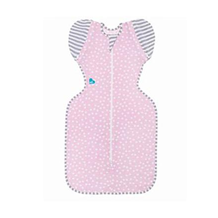 澳洲 Love To Dream SWADDLE UP 50/50 專利蝶型包巾(輕薄款) stage2 可拆式進階款-粉點色(M/L)