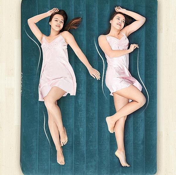 氣墊床單人家用充氣床墊雙人折疊床加厚戶外懶人便攜床加大 PA2464『紅袖伊人』