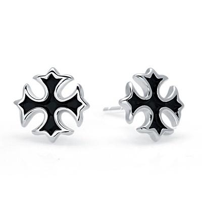 925純銀耳環(耳針式)-個性十字架生日情人節禮物女飾品73dr162【時尚巴黎】