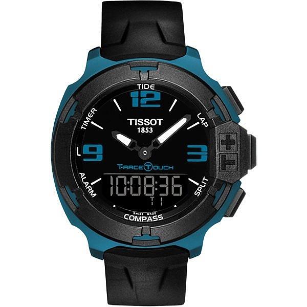 TISSOT 天梭 T-Race鋁合金多功能觸控錶-藍/42mm T0814209705704