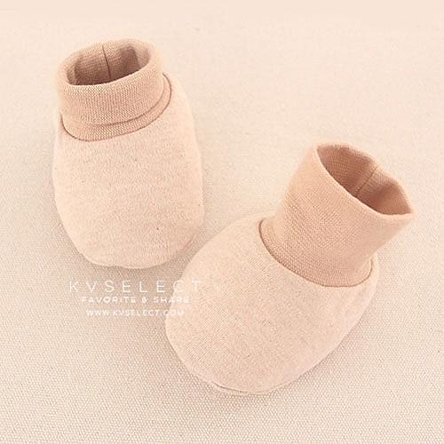 天然質感新生嬰兒腳套襪子