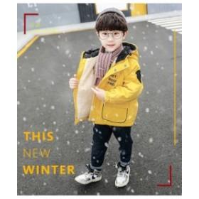子供コート 中綿コート男の子 アウター 冬 防寒 厚手 ジャケット かわいい 秋 赤ちゃん服 キッズコート 綿入れコート コート