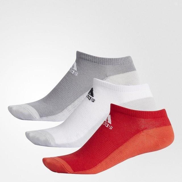 (セール)adidas(アディダス)スポーツアクセサリー ソックス URBAN2 3P アンクルソックス ETX31 CX3986 2325 グレースリーF17/ホワイト/スカーレット