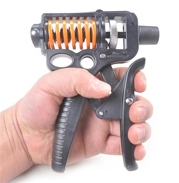 猛男適用指力器金屬彈簧可調握力器手指抓力器運動器械捏握器