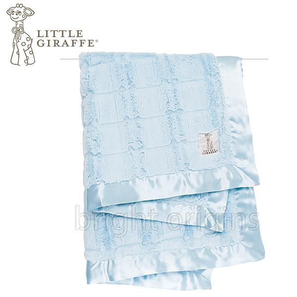 Little Giraffe 奢華夢幻嬰兒毯 藍色