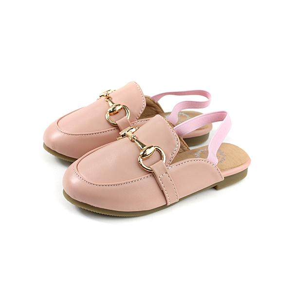 HABU 涼鞋 護趾 粉紅色 皮質 童鞋 no018