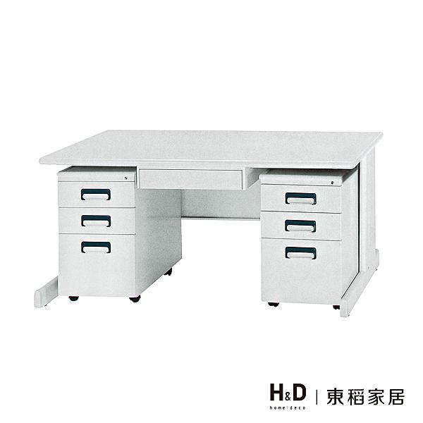 HU-140辦公電腦桌(空桌+中抽+活動櫃X1))(21CS3/543-6)