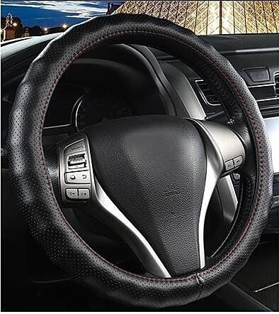 汽車方向盤套小車皮質方向套四季通用型透氣吸汗防滑suv皮質把套