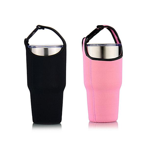環保附背帶飲料杯袋 長款30oz冰壩杯適用 冰霸杯飲料提袋 環保杯套 飲料杯套 飲料提帶