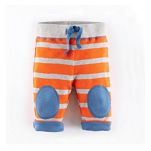 歐美風格男童純棉長褲-橘條紋