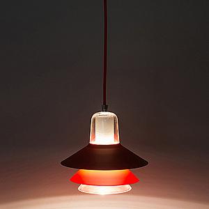 HONEY COMB 複刻版金屬透明玻璃單吊燈TA7590R