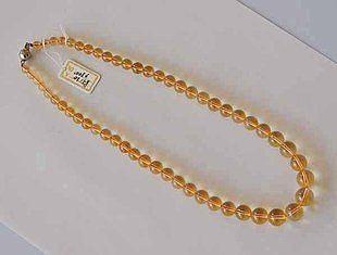 黃水晶圓珠塔鏈