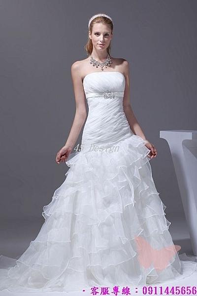 (45 Design) 來圖訂製款. 加大尺吋中大尺碼~新娘禮服婚紗 洋裝.(可定製XXS~ 5XL 6XL 7XL 8XL 9XL 加大)