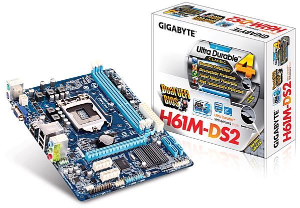 全新 技嘉 GA-H61M-DS2 主機板 Gigabyte 1155腳位