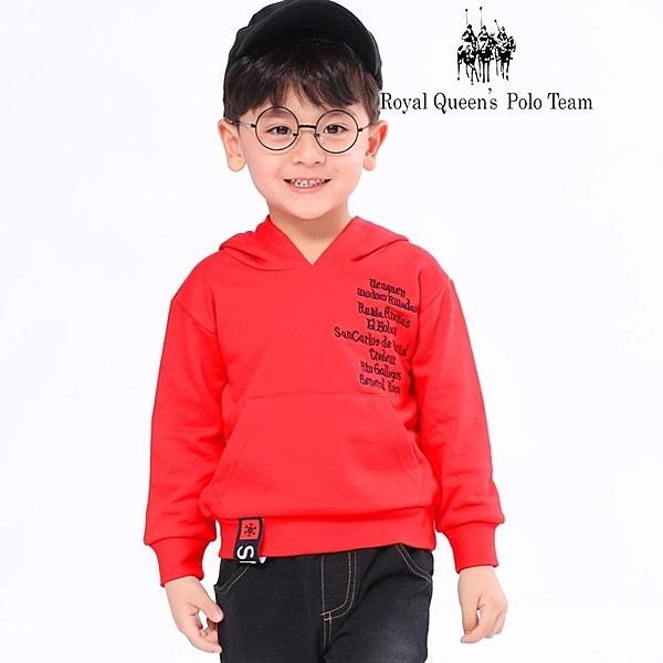 小童紅色休閒棉帽T[85070] RQ POLO 秋冬童裝